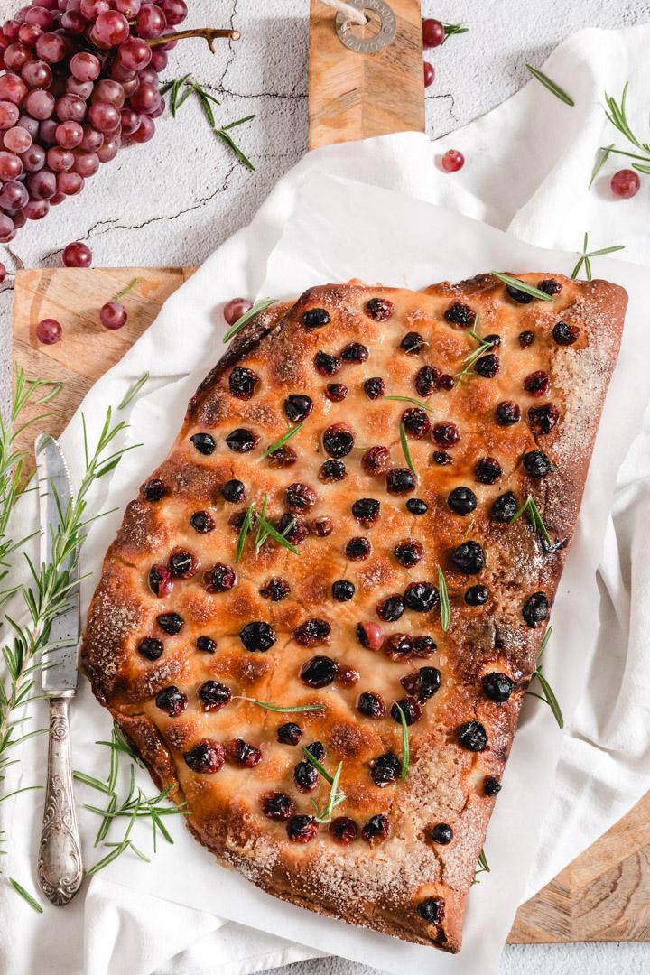 recette de foccacia aux raisins Schiacciata con l'uva