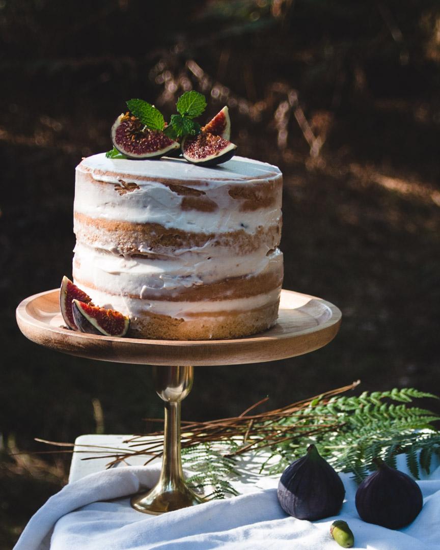 recette naked cake vegan figues