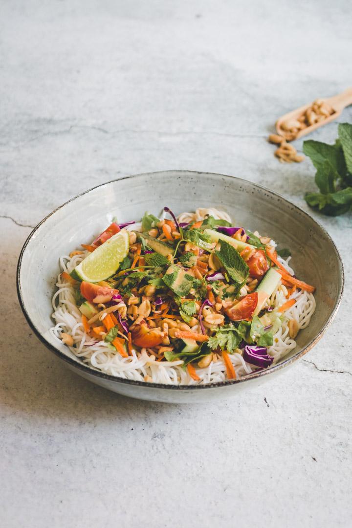 recette salade de rouleaux de printemps vegan