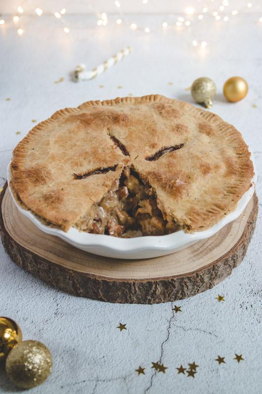 Tourte de Noël façon meat pie anglaise végane