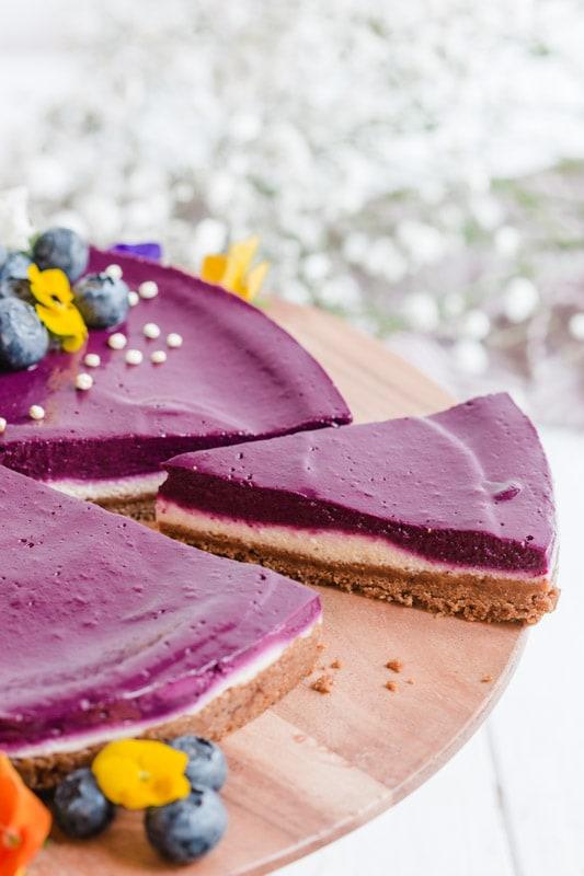 recette cheesecake vegan myrtilles