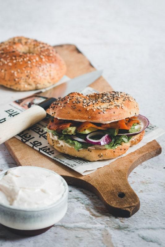 recette pain bagel vegan
