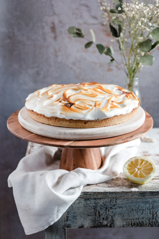 recette tarte au citron meringuée vegane