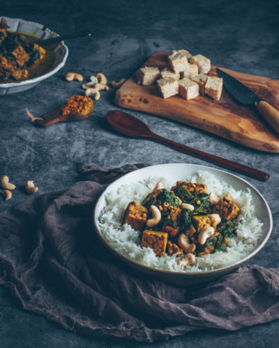 curry tempeh epinard