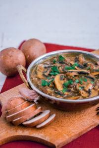 Curry indien aux champignons { végane }
