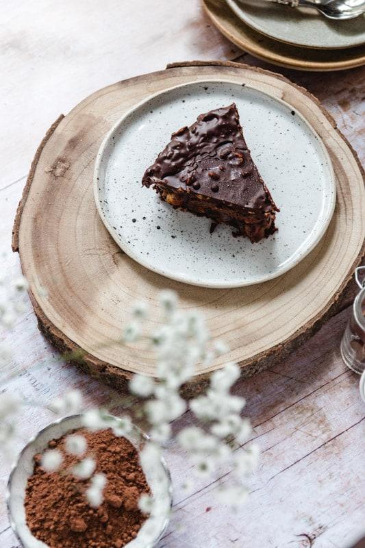 recette entremets vegan chocolat noisette