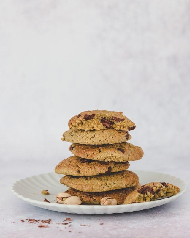 recette de cookies vegan pistache chocolat