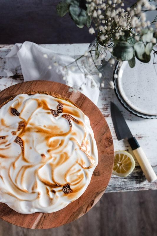 recette tarte au citron meringuée vegan