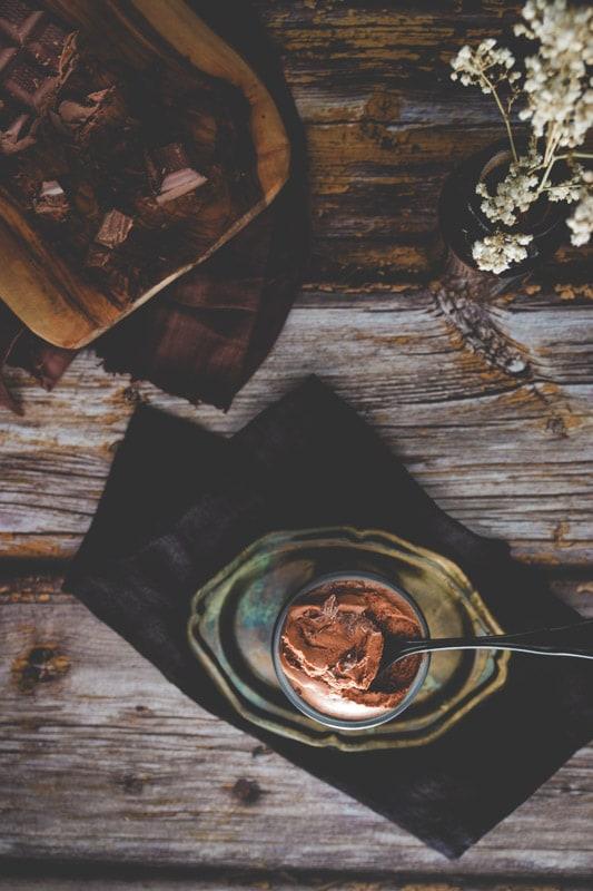recette mousse chocolat café vegan aquafaba