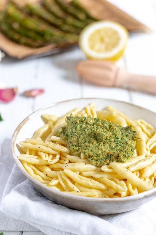 recette à base d'asperges vertes roties au four