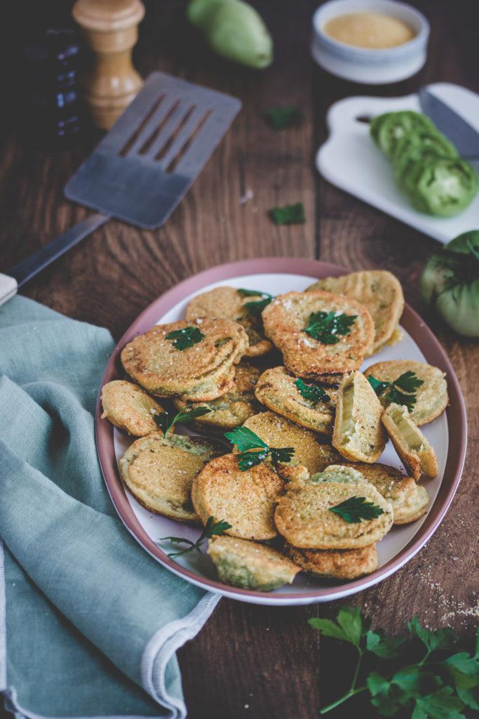 recette beignets de tomates vertes