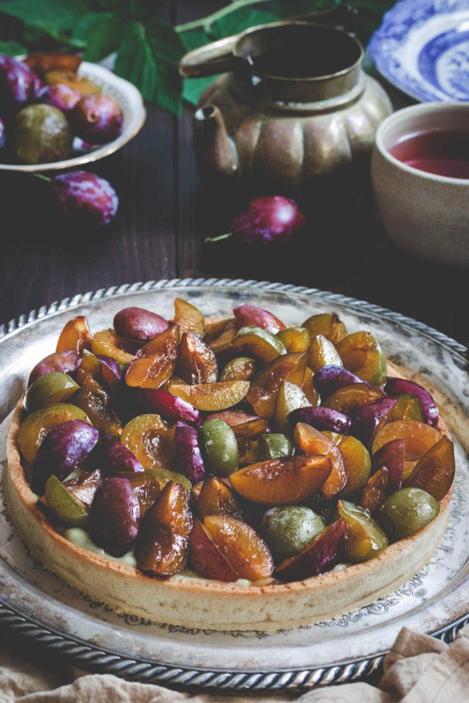 recette tarte au prunes vegan