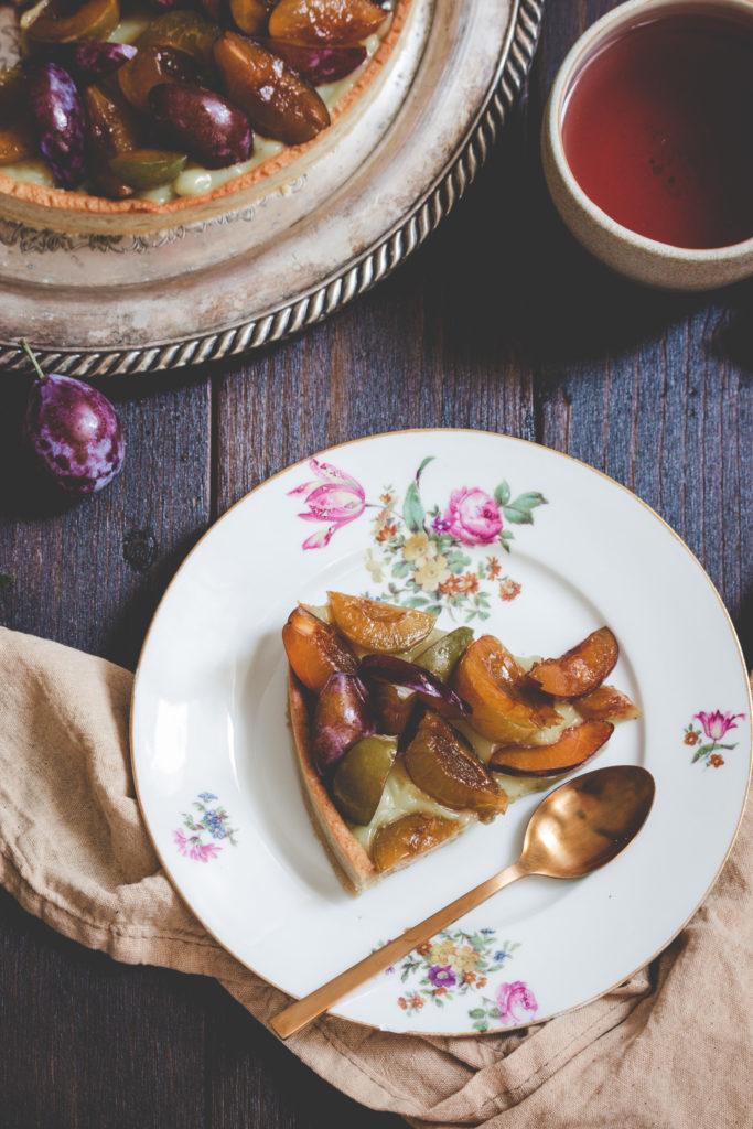 recette tarte aux prunes vegan