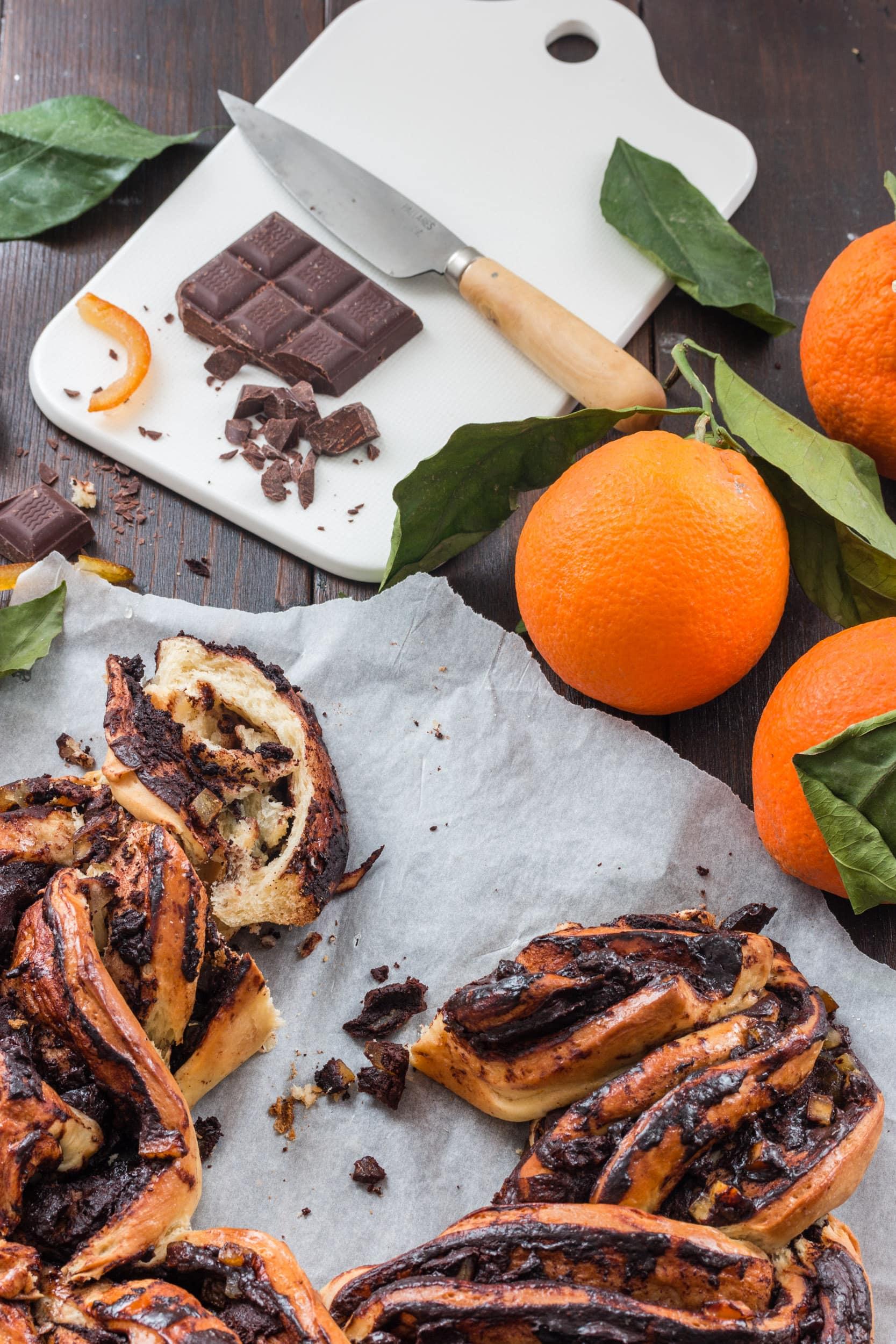 recette vegan brioche tressée chocolat orange